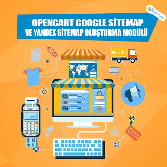 Opencart Google Sitemap Ve Yandex Sitemap Oluşturma Modülü