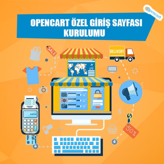 Opencart  Özel  Giriş Sayfası Kurulumu