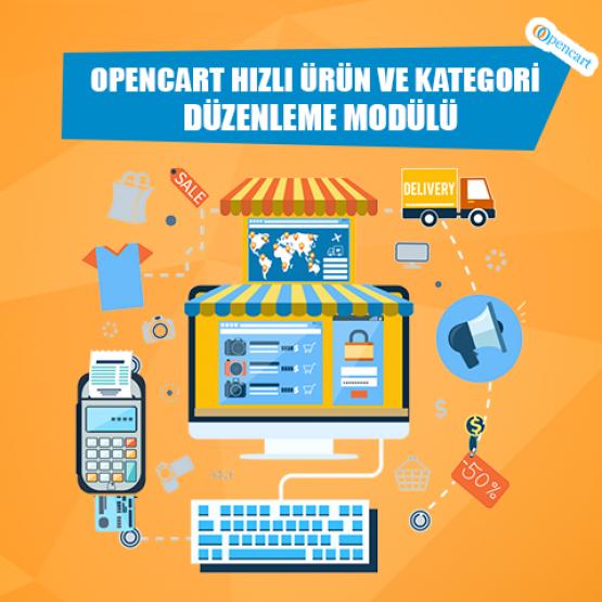 Opencart Hızlı Ürün Ve Kategori Düzenleme Modülü