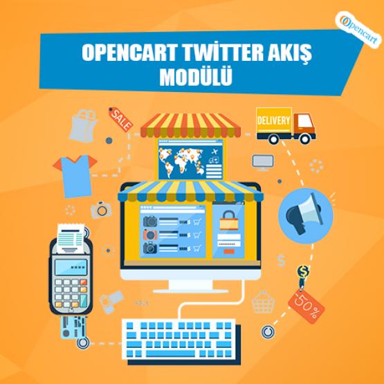 Opencart Twitter Akış Modülü