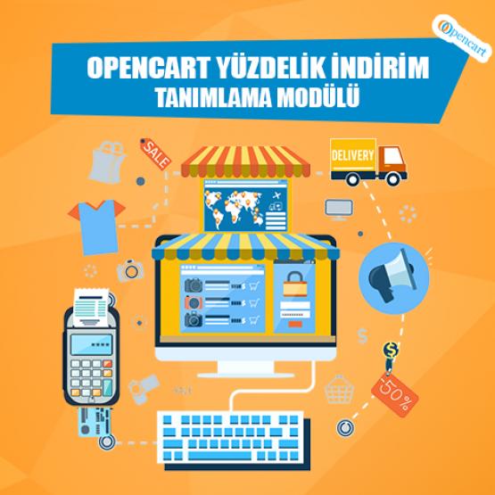 Opencart Yüzdelik İndirim Tanımlama Modülü